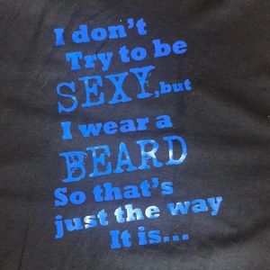 Funny Tee shirt Black and Blue Brand New